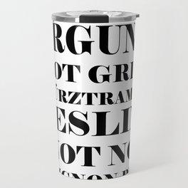 Wine Celebration - White Travel Mug