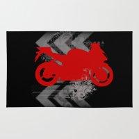 racing Area & Throw Rugs featuring Racing by Ezgi Kaya