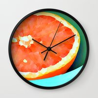 aelwen Wall Clocks featuring Grapefast by Xchange Art Studio