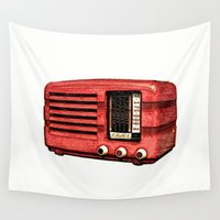 radio Wall Tapestries featuring Old Radio III by Mr & Mrs Quirynen