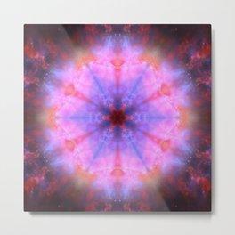 Luminous Flower Mandala Metal Print