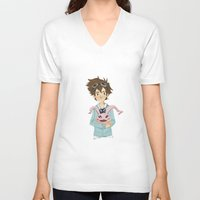 digimon V-neck T-shirts featuring Digimon Tri by lulovera