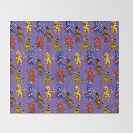 FNAF: Celebrate! Throw Blanket