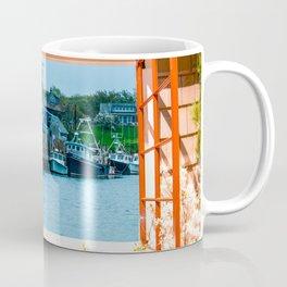 Fishing Trawlers in Harbor Coffee Mug