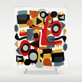 Formes amusantes Abstract Pattern Art Shower Curtain