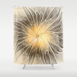 Floral Dream, Abstract Fractal Art Shower Curtain