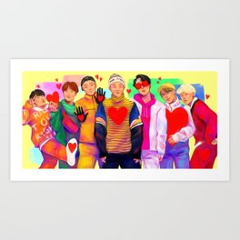 BTS: All The Love Art Print
