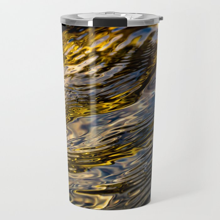 River Ripples in Copper Gold and Brown Travel Mug