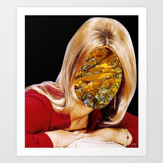 Autumn Woman Collage Art Print