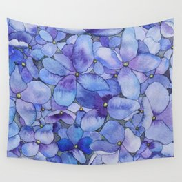 Watercolour Hydrangea Wall Tapestry