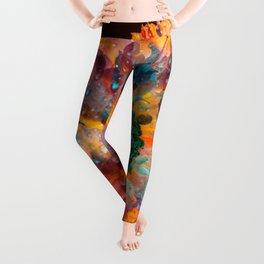 Psychedelic Floral Dew Leggings