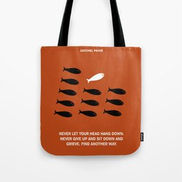 Lab No. 4 - Satchel Paige Corporate Startup Quotes Poster Tote Bag