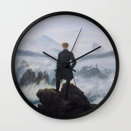 Wanderer Above the Sea of Fog Wall Clock