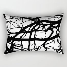 black branches Rectangular Pillow
