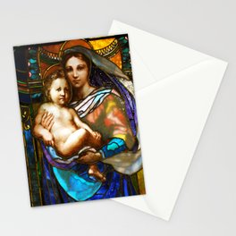 Mother Mary With Jesus Stationery Cards