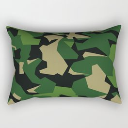 Camouflage Splinter Pattern Green Barret Rectangular Pillow