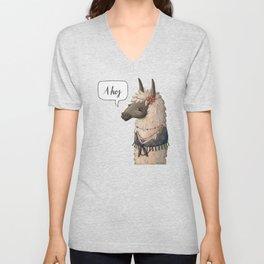 Bohemian Llama (II) Unisex V-Neck