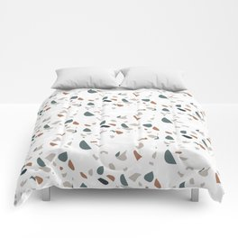 Terrazzo seamless pattern. Natural stone material in trendy colors Comforters