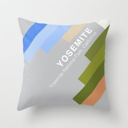 The colors of climbing spots - YOSEMITE Throw Pillow