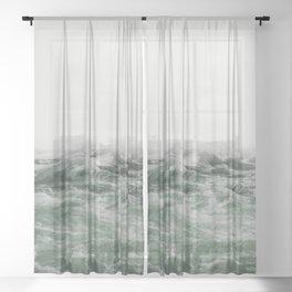 Green Sea Sheer Curtain