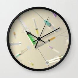 Syringe frenzy Wall Clock