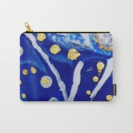 Ultramarine Blue and Gold Acrylic Painting Carry-All Pouch