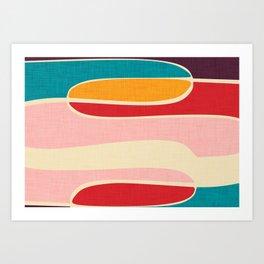 Wondering Waves #homedecor #midcenturydecor Art Print