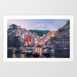 An Evening In Cinque Terre - Riomaggiore Art Print