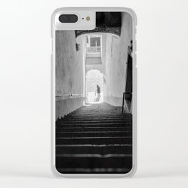 Upstairs, Downstairs - Lisbon Portugal Clear iPhone Case