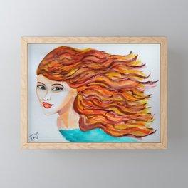 Red Angel Framed Mini Art Print