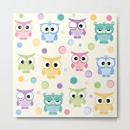 Owl pattern Metal Print