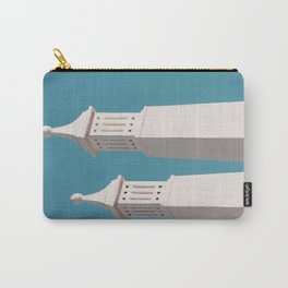 Minimalist Photography Portugal Minerit White Towers Blue Background Scadenvien Style Carry-All Pouch