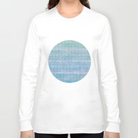 scales Long Sleeve T-shirts featuring Mermaid Scales by Sunny Horizon