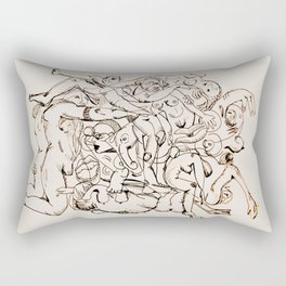 Orgy Rectangular Pillow