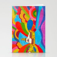 yellow submarine Stationery Cards featuring Yellow Submarine by Jaime Viens