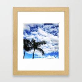 Blue Blue Palm Sky Framed Art Print