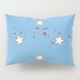 Micronesia Flag with Map of Micronesia Pillow Sham