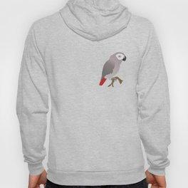 Cute African grey parrot vector Hoody
