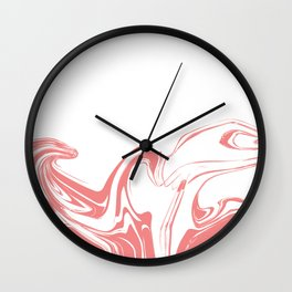 Color drop in water in motion. Ink swirling.  Wall Clock