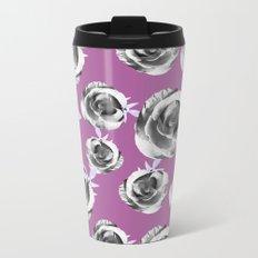Summer Floral Pattern II Metal Travel Mug