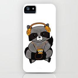 three wise raccoon music iPhone Case