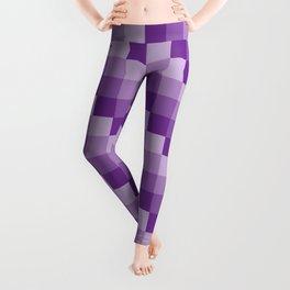 Four Shades of Purple Square Leggings