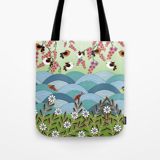 beautiful river Tote Bag