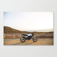 ducati Canvas Prints featuring Ducati 002 by Austin Winchell