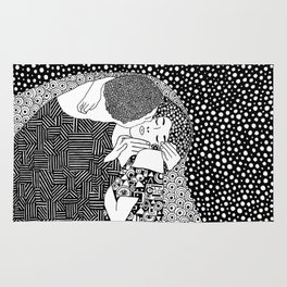The kiss of Gustav Klimt Rug
