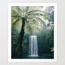 Waterfalls in Bali Art Print