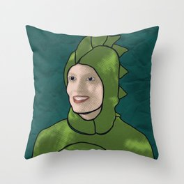 Dinosaur Britta Throw Pillow