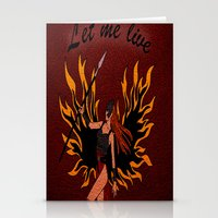 resident evil Stationery Cards featuring Resident Evil Claire Redfield Jacket by KeenaKorn