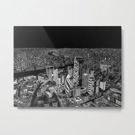London in BW Metal Print