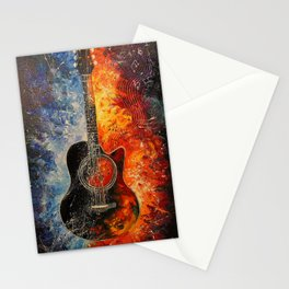 The rhythms of the guitar Stationery Cards